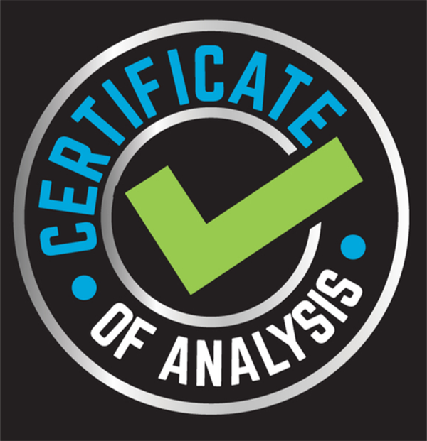 Certificate of Analysis for Bear Claw Extracts